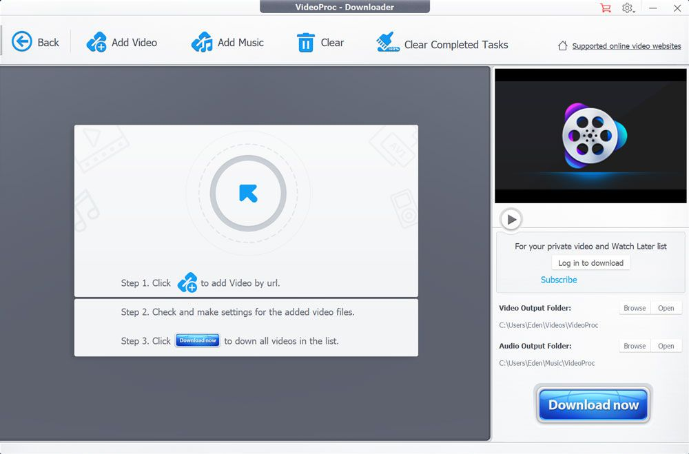 VideoProc - Video Downloader, Converter, Editor, Recorder