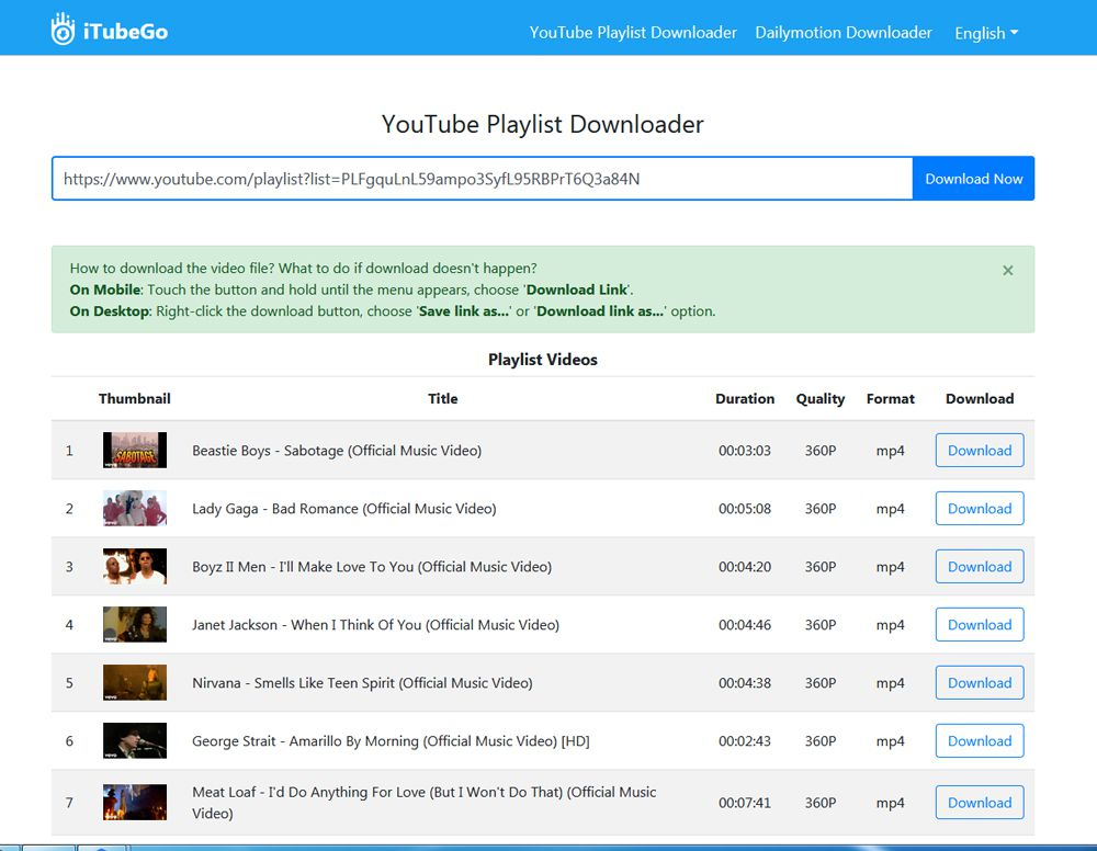 YouTube Playlist Downloader to MP3, MP4
