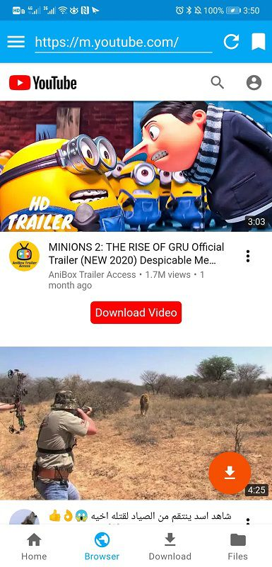 youtube video android