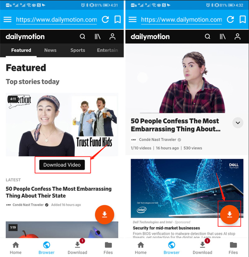 dailymotion downloader android