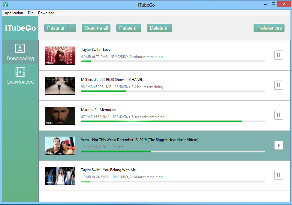 video downloading