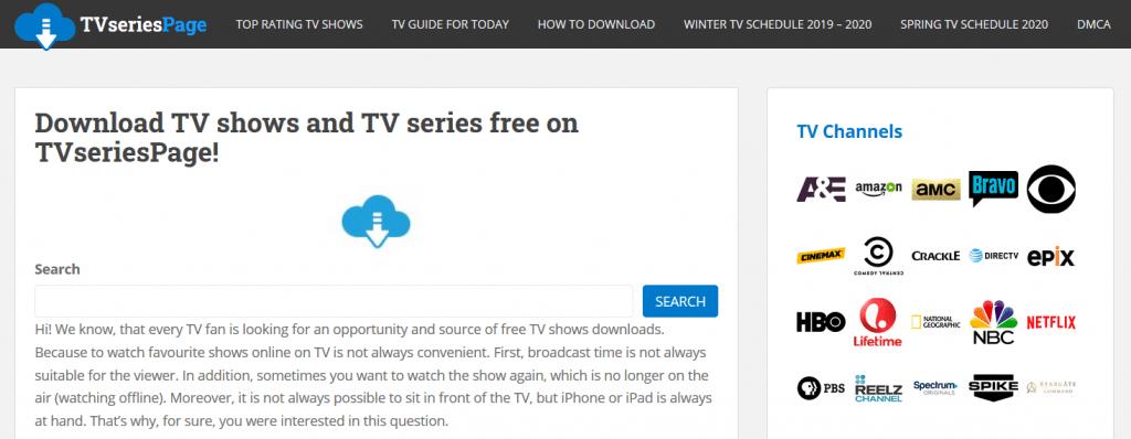 TVseriesPage