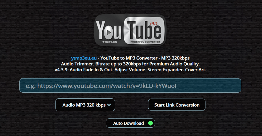 High quality youtube to mp3 converter