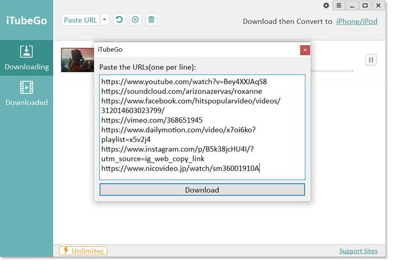 download multiple urls