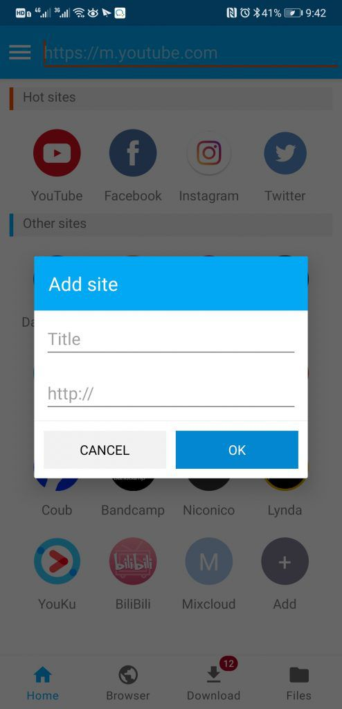 itubego youtube downloader android bookmark