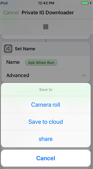 save to camera roll instagram video